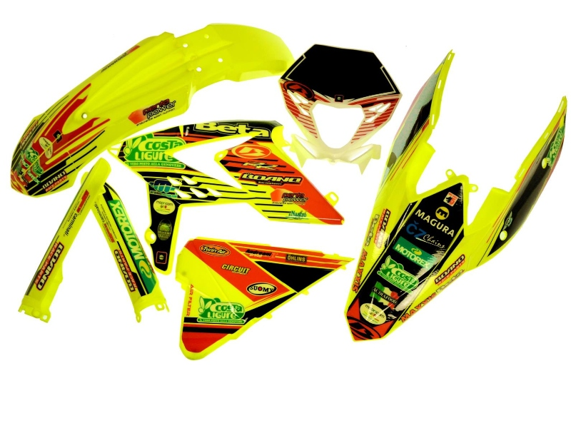 Boano stickerset Beta Enduro Fluo